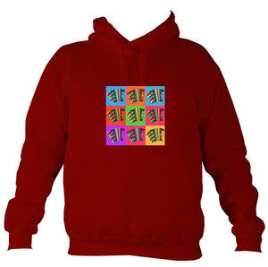 Warhol style Accordions Hoodie-Hoodie-Red hot chilli-Mudchutney