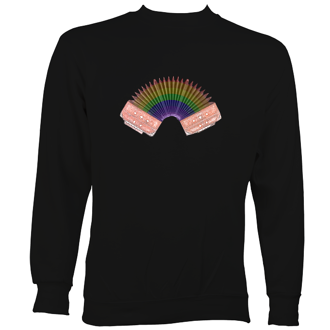 Rainbow Accordion Sweatshirt