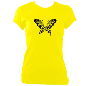 update alt-text with template Ladies Ornate Butterfly Design Fitted T-shirt - T-shirt - Daisy - Mudchutney