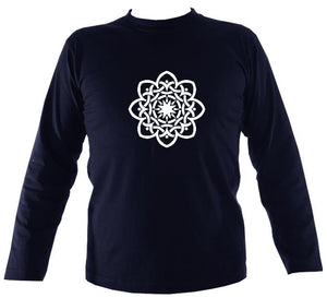 Celtic Flower Mens Long Sleeve T-shirt