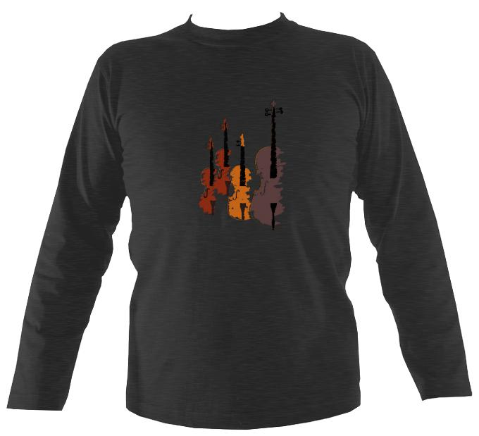 String Quartet Sketch Mens Long Sleeve Shirt