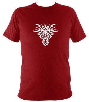 Tribal bull t-shirt in antique cherry red