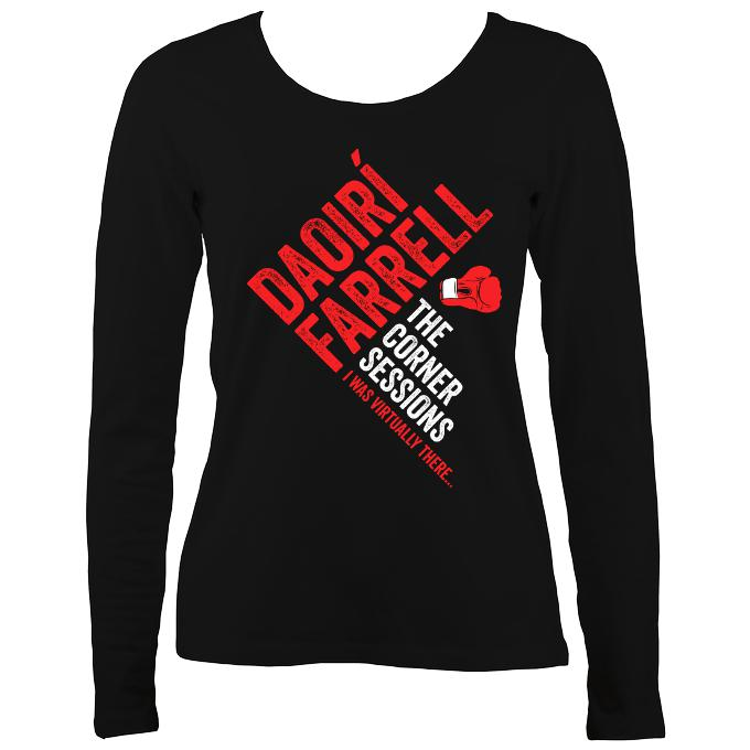 Daoiri Farrell Corner Session Boxing Glove Women's Long Sleeve Shirt - Long Sleeved Shirt - Black - Mudchutney