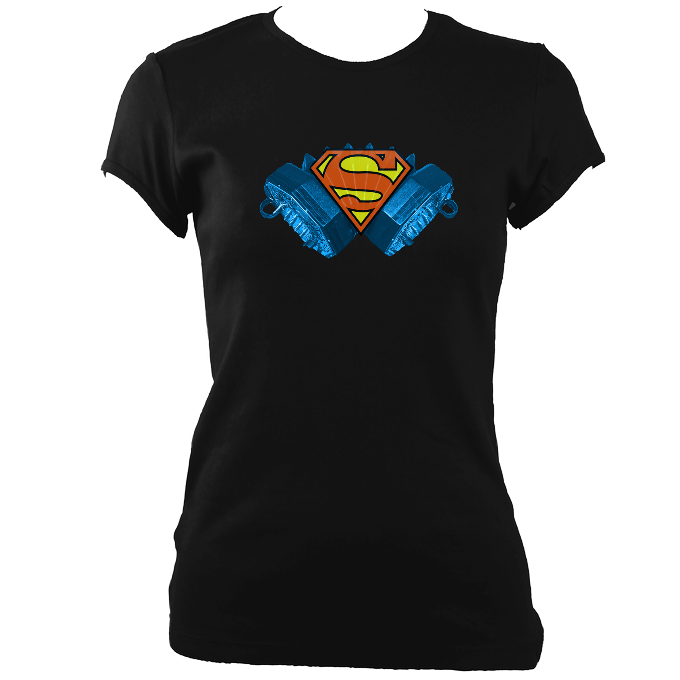 Concertina Superman Women's Fitted T-shirt