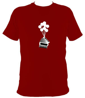 Banksy Style Accordion T-shirt - T-shirt - Cardinal Red - Mudchutney