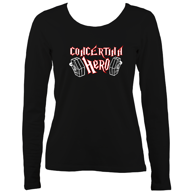 Concertina Hero Womens Long Sleeve Shirt