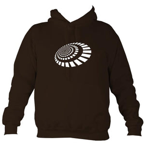 Spiral Blocks Hoodie-Hoodie-Hot chocolate-Mudchutney