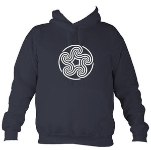 Celtic Five Spiral Hoodie-Hoodie-Denim-Mudchutney
