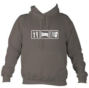 Eat, Sleep, Play Melodeon Hoodie-Hoodie-Mocha brown-Mudchutney