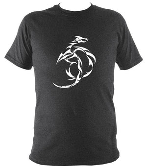 Tribal Dragon T-shirt - T-shirt - Dark Heather - Mudchutney