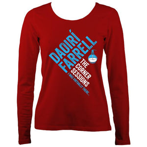 Daoiri Farrell Corner Session Bottle Women's Long Sleeve Shirt - Long Sleeved Shirt - Red - Mudchutney