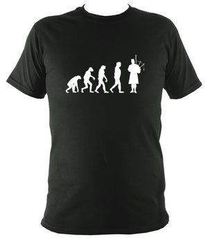Evolution of Bagpipe Players T-shirt - T-shirt - Forest - Mudchutney