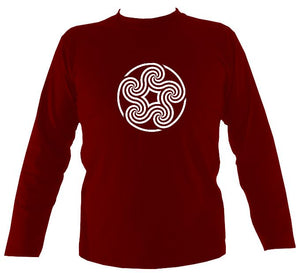 Celtic Five Spiral Mens Long Sleeve Shirt