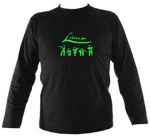 Lunasa abstract band men's long sleeve shirt in black
