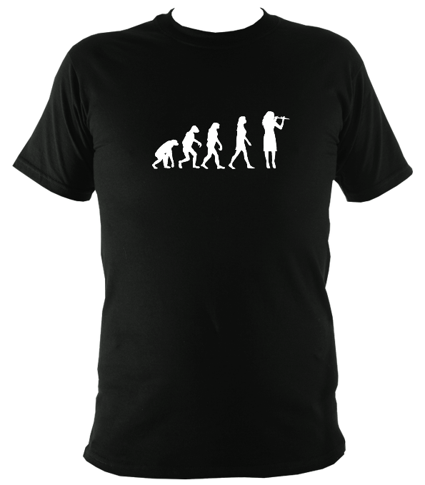 Evolution of Female Fiddle Players T-shirt