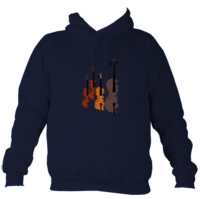 String Quartet Sketch Hoodie-Hoodie-Oxford navy-Mudchutney