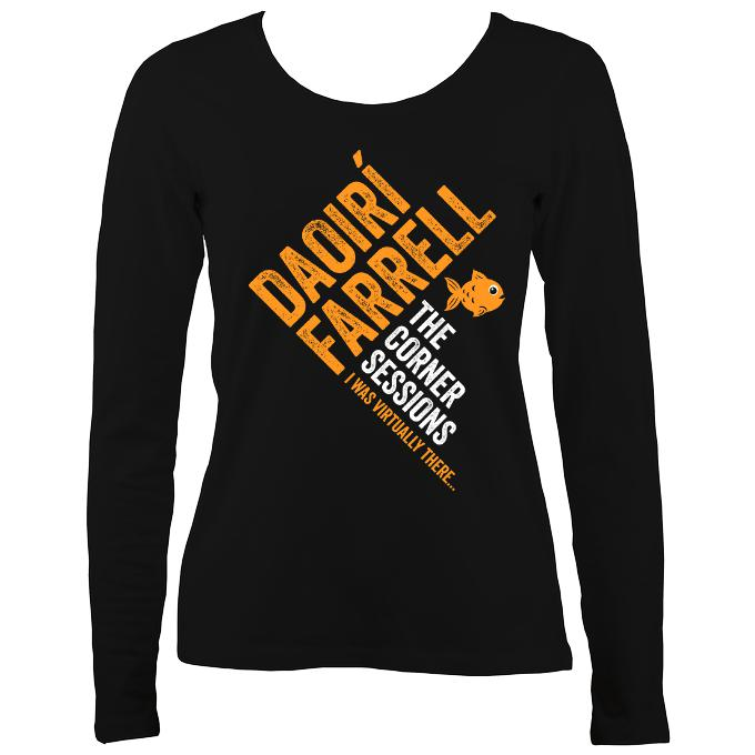 "Daoiri Farrell ""Corner Session - Fish"" Women's Long Sleeve Shirt - Long Sleeved Shirt - Black - Mudchutney"