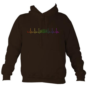 Heartbeat Concertina in Rainbow Colours Hoodie-Hoodie-Hot chocolate-Mudchutney