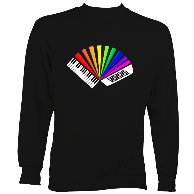 Rainbow Piano Accordion Sweatshirt