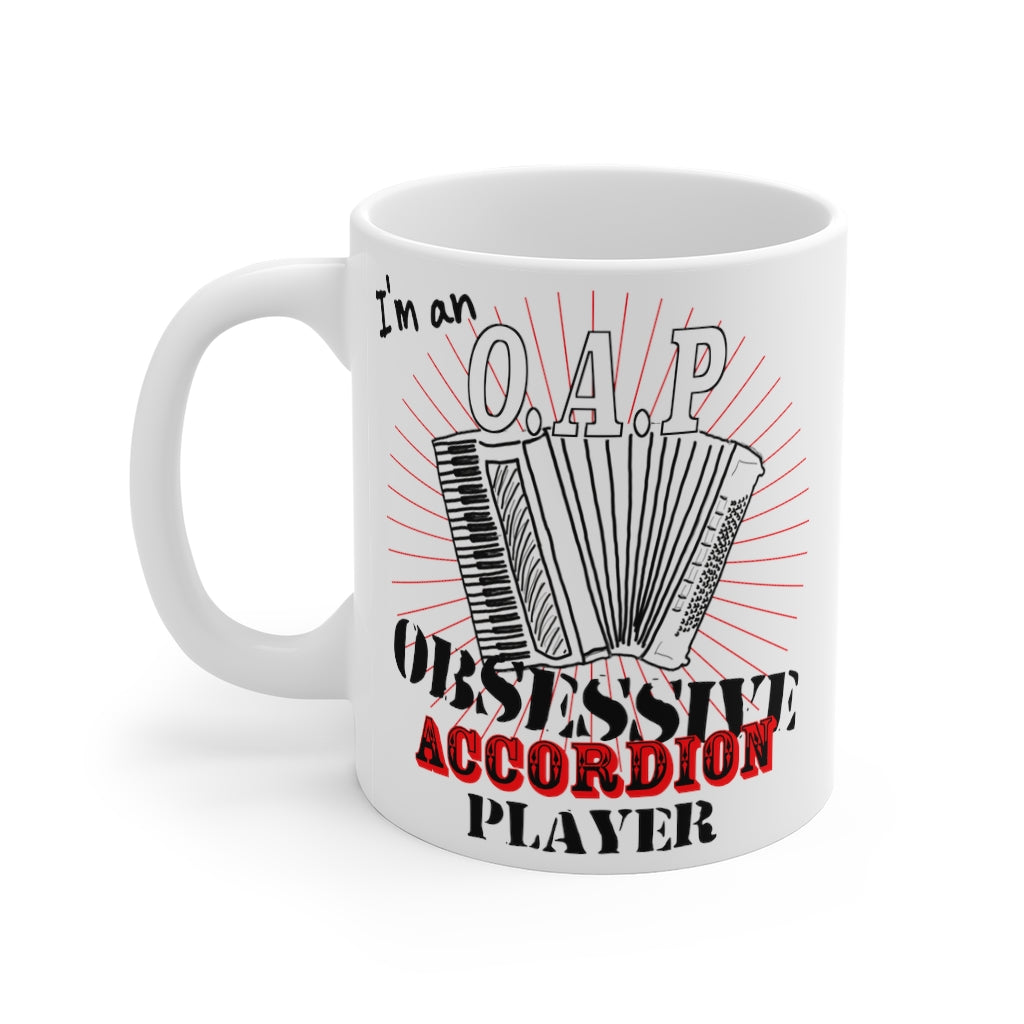 OAP Accordion Mug - Obsessive Accordion Player Ceramic Mug - Musicians Ceramic Mug | Folk Music
