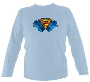 Concertina Superman Mens Long Sleeve Shirt