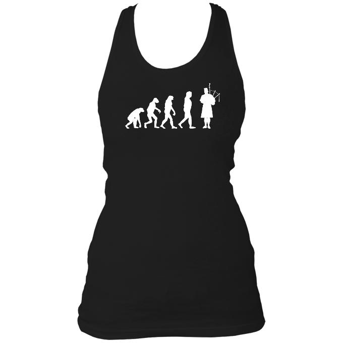 Evolution of Bagpipes Players Ladies Racerback Vest