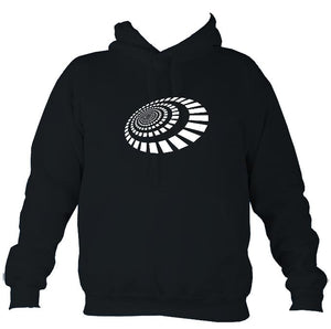 Spiral Blocks Hoodie-Hoodie-French navy-Mudchutney