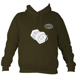 Lachenal 20 key Anglo Concertina Hoodie-Hoodie-Olive green-Mudchutney