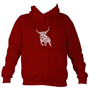 Tribal Bull Hoodie-Hoodie-Red hot chilli-Mudchutney