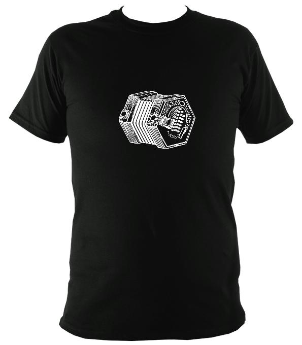 English Concertina T-shirt - T-shirt - Black - Mudchutney