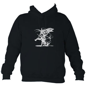 Fiddle Playing Goblin Hoodie-Hoodie-French navy-Mudchutney