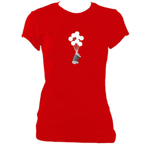 update alt-text with template Banksy Style Concertina Ladies Fitted T-shirt - T-shirt - Red - Mudchutney