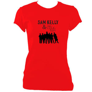 update alt-text with template Sam Kelly and the Lost Boys Ladies Fitted T-shirt - T-shirt - Cherry Red - Mudchutney