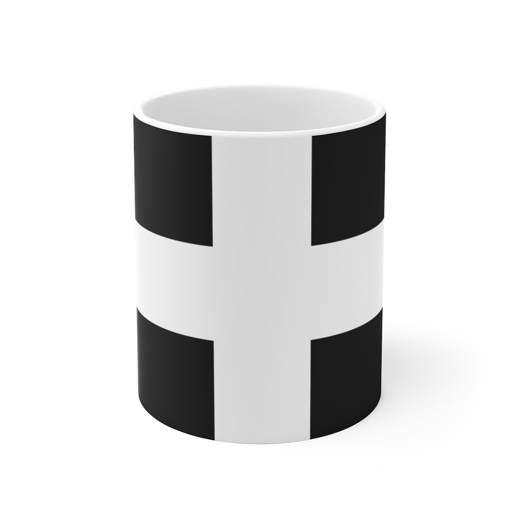 Cornish Flag Mug / Kernow St Piran's Flag Mug | Cornish Gift 11oz