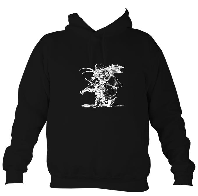 Fiddle Playing Goblin Hoodie-Hoodie-Jet black-Mudchutney