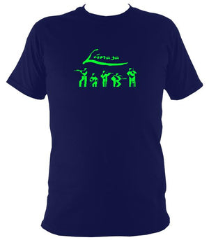 Lúnasa Irish Band T-shirt - T-shirt - Navy - Mudchutney