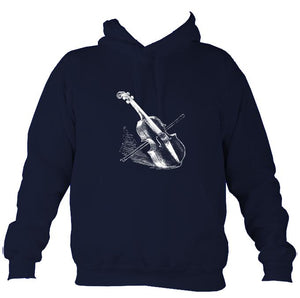 Fiddle and Bow Sketch Hoodie-Hoodie-Oxford navy-Mudchutney