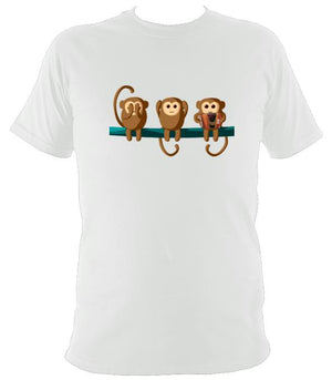 Play No Melodeon Monkeys T-shirt - T-shirt - White - Mudchutney