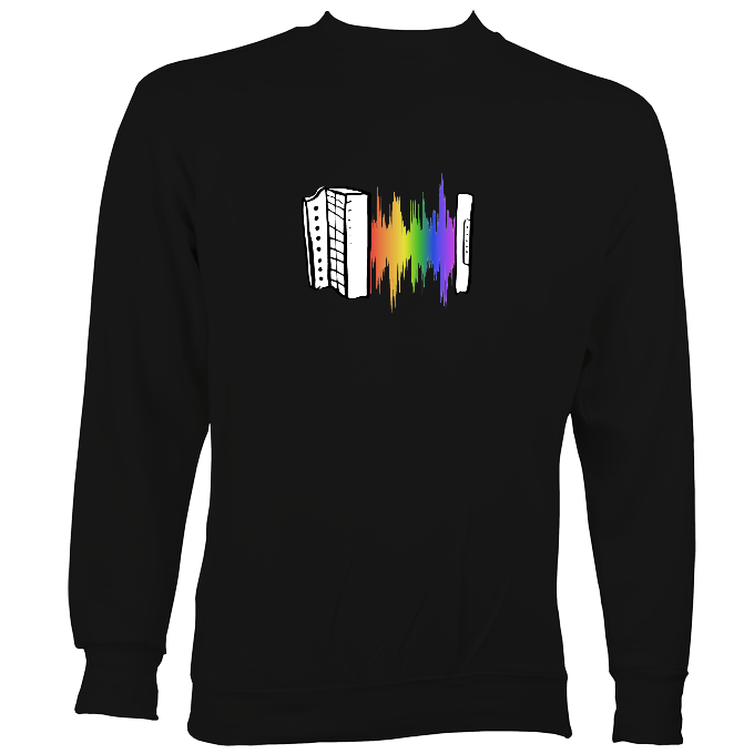 Rainbow Sound Wave Melodeon Sweatshirt