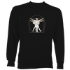 Da Vinci Vitruvian Man Playing Accordion Sweatshirt