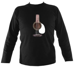 Guitar Strings and Neck Mens Long Sleeve Shirt - Long Sleeved Shirt - Black - Mudchutney