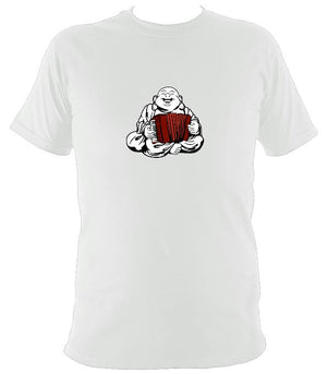 Piano Accordion Playing Buddha T-shirt - T-shirt - White - Mudchutney