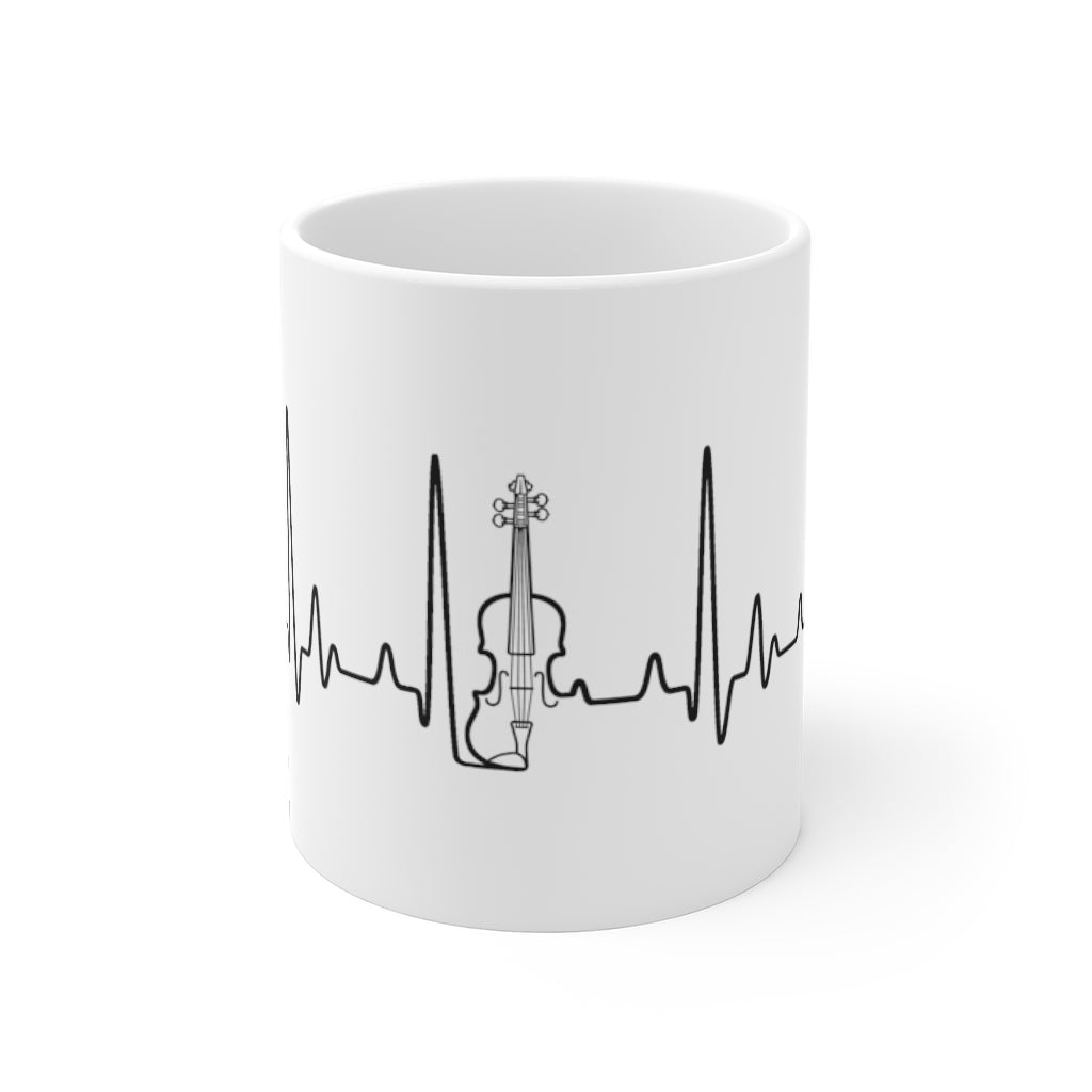 Heartbeat Fiddle / Violin | Musicians Ceramic Mug 11oz
