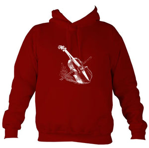 Fiddle and Bow Sketch Hoodie-Hoodie-Red hot chilli-Mudchutney