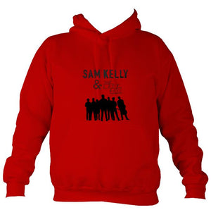Sam Kelly and the Lost Boys Hoodie-Hoodie-Fire red-Mudchutney