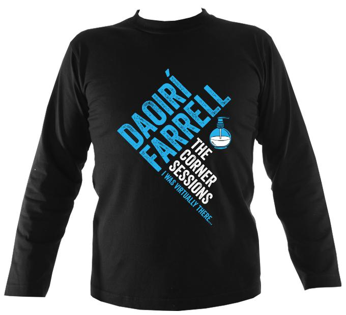 Daoiri Farrell Corner Session Bottle Mens Long Sleeve Shirt - Long Sleeved Shirt - Black - Mudchutney
