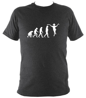 Evolution of Morris Dancers T-shirt - T-shirt - Dark Heather - Mudchutney