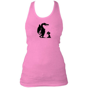 Ladies Dinosaur Racerback Top