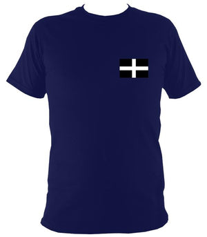 Cornish Flag T-Shirt - T-shirt - Navy - Mudchutney