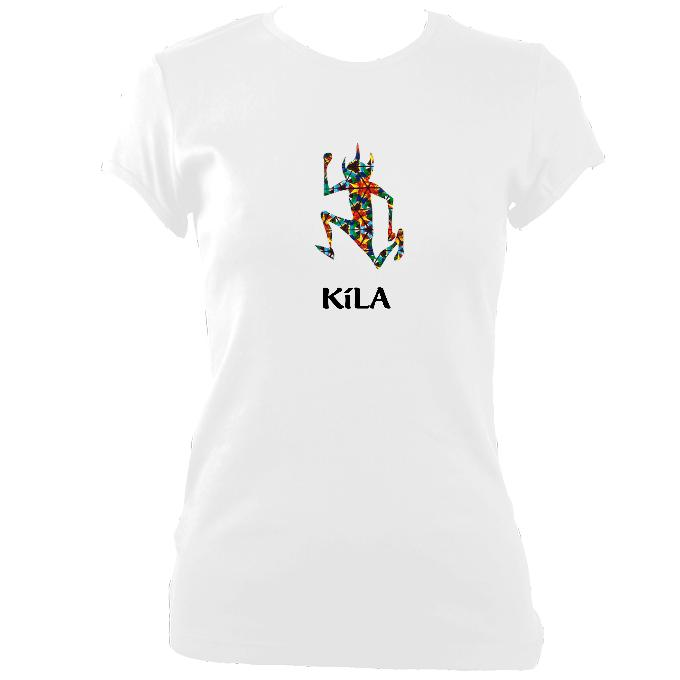 update alt-text with template Kila Ladies Fitted T-shirt - T-shirt - White - Mudchutney